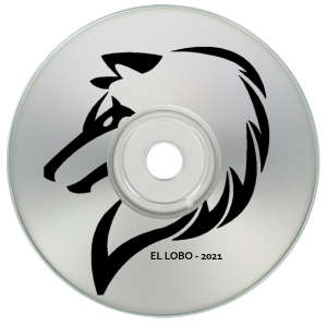 Black Text on Silver CD