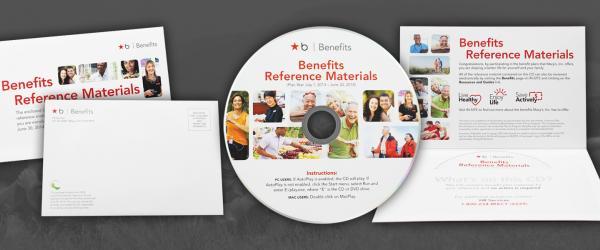 CDs In Horizontal 4 Panel Mailer