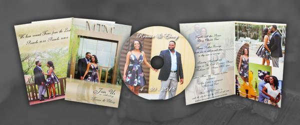 CDs In Vertical 4 Panel Mailers