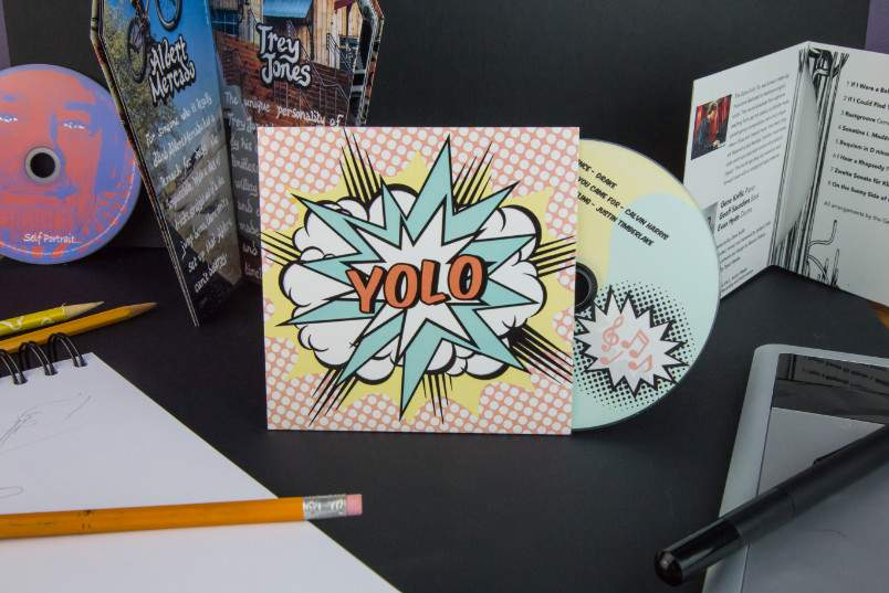 CD album cover with custom artwork